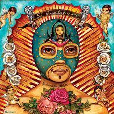 Raudiel Sañudo es un artistade Guamúchil, Sinaloa, que hace ilustraciones con un toque de realismo mágico de la cultura popular mexicana de una manera extr