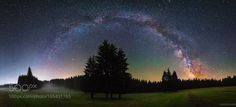 Mystic Forest  Panorama of the Milky Way in a typical forest in thuringia. Beautiful Airglow at the right side of the sky and last parts of the blue hour at the left side can be seen. Fog and grass are visible in the foreground.  Camera: ILCE-7S Lens: ---- Shutter Speed: 15sec ISO/Film: 8000  Image credit: http://ift.tt/2axaOll Visit http://ift.tt/1qPHad3 and read how to see the #MilkyWay  #Galaxy #Stars #Nightscape #Astrophotography