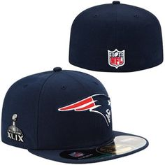 f226e724678 Mens New England Patriots New Era Navy Blue Super Bowl XLIX 59FIFTY  On-Field Game Fitted Hat