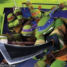 20 teenage #mutant ninja turtles #birthday party paper napkins #banner decoration,  View more on the LINK: http://www.zeppy.io/product/gb/2/162099115283/