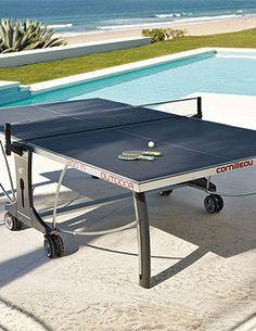 This Outdoor Table Tennis boasts indoor performance, outdoor durability and great value! Available at Olhausen Gamerooms and Outdoors in San Diego!