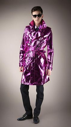 Metallic Silk Trench Coat from the Burberry Prorsum Menswear S/S13