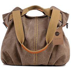 3ad2e039b1 Z-joyee Vintage Hobo Canvas Tote Handbag Satchel Shoulder Bag With  Removable Adjustable Strap  gt