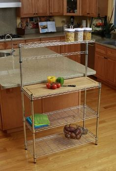 354d4c0e92 Steel Bakers Rack Removable Cutting Board Food Prep Cook Cooking Storage  Shelves  Trinity Storage Shelves