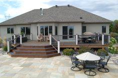 Completed Deck Design & Construction Projects   Fargo-Moorhead Trek Deck, Deck Building Plans, Fargo Moorhead, Design Jardin, Backyard Patio Designs, Decks And Porches, Outdoor Living, Outdoor Decor, Deck Design
