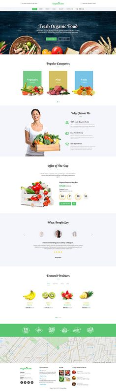 Fresh Organic Food #website #template. #themes #business #responsive #websitethemes