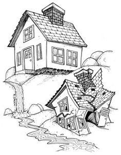 Huis op de rots/ huis op het zand