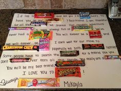 The candy board I made for Shay's going away party <3