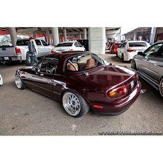 Gorgeous clean wine red na mx5 miata roadster