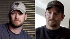 """Image: Chris Kyle (left), and Bradley Cooper in character as Kyle in """"American Sniper."""""""