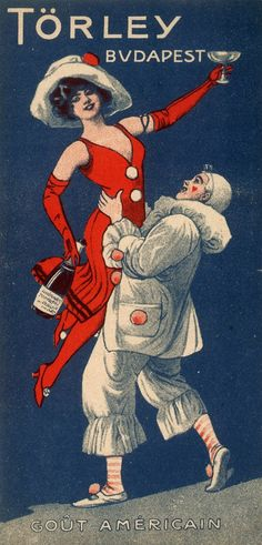 Hungarian champagne poster