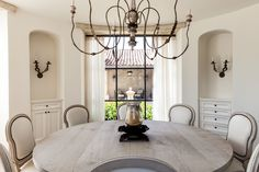 Beautiful dining room in shades of white