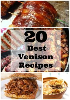 Hunting season means fresh venison. Here are the 20 best venison recipes. From burgers and jerky to pot pie and roast, you will discover a new favorite. Check them out and let me know which one is your favorite. Venison Cube Steak Recipe, Venison Roast Crockpot, Best Venison Recipe, Ground Venison Recipes, How To Cook Venison, Cube Steak Recipes, Venison Steak, Venison Meals, Recipes With Venison Roast