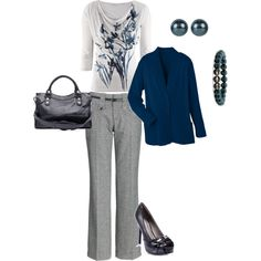 Navy and Gray on #polyvore