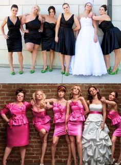Our rendition of the 'Bridesmaids' pose