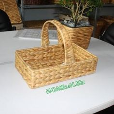 Home24h co,.ltd: Linen Baskets Water Hyacinth material Home24h / Lined Baskets - Home24h.biz