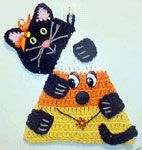 Candy Corn Potholder free crochet pattern