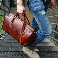 f9e2b6716c74 Vintage Leather Cool Mens Handbag Shoulder Bag Travel Bag for men –  iwalletsmen Leather Purses