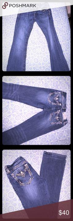 Miss me jeans waist: 30 inseam: 35 Size 30.  Length 35 Miss Me Jeans Boot Cut