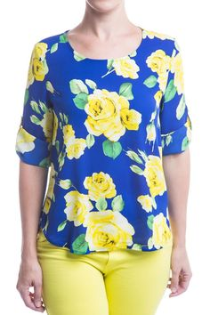 Type 4 Brilliant Floral Top