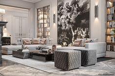 Studio › Fabulous story in Paris Interior Design Studio, Modern Interior Design, Luxury Interior, Interior Design Living Room, Interior Architecture, Living Room Designs, Modern Classic Interior, Classic Living Room, Living Room Modern