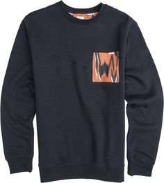 Volcom fleece with printed pocket. http://www.swell.com/New-Arrivals-Mens/VOLCOM-MALLACE-CREW-FLEECE?cs=NV