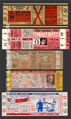 These tickets are printed on Matte photo paper. The backs of the tickets are white. They are excellent for framing and they make great collectibles. American Baseball League, Detroit Baseball, Mlb Detroit Tigers, American League, Game Tickets, Baseball Games, Baseball Tickets, 1960 World Series