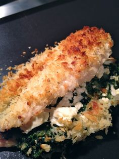 Spinach and feta stuffed chicken. Very easy and delicious. Served with lemon smashed potatoes and broccoli/cauliflower au gratin. Delicious!