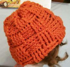 Teen or Women's Rust Shaded Hat -Crochet-#2