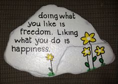 Painting Rocks with Quotes | Quote on flagstone | Painted rocks