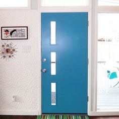 Mid-Century Exterior Doors and Entries Mid Century Modern Door, Mid Century Exterior, Exterior Doors, Entry Doors, Modern Front Door, Front Entry, Front Doors, 60s Home Decor, Hot Tub Time Machine
