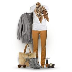 camel and gray