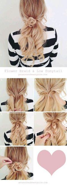 Cute hair flower