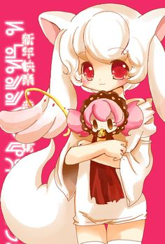 Kyubey and Charlotte