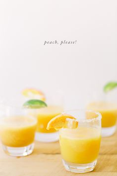 Peach, please!  A pretty and delicious cocktail recipe.