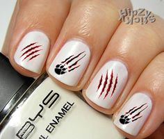 20 Claw Marks Quality Water Slide/Transfer Nail Art by HipZySticKy.