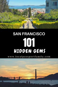 Are you visiting or living in San Francisco? Here's a list of 101 San Francisco hidden gems to get you exploring off-the-beaten-path! San Francisco Sites, Living In San Francisco, Us Travel Destinations, Places To Travel, Travel With Kids, Family Travel, Travel Usa, Travel Tips, Us Road Trip