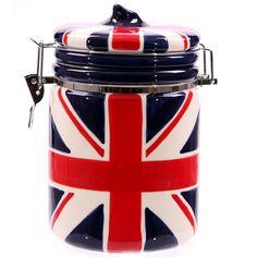 Union Jack furniture | Furniture, clocks, lamps, accessories Cookie Jar - Union Jack Ceramic ...