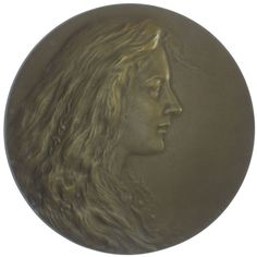 Kaiserreich Österreich. Franz Joseph I. 1848 - 1916 einseitige AE Medaille o.J. Kupfer-Nickel Mädchenkopf (Der Frühling) nach rechts, Med: St. Schwartz