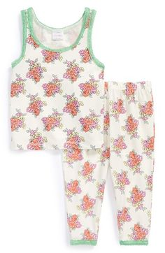 Ruby & Bloom Two Piece Fitted Pajamas (Little Girls & Big Girls) available at #Nordstrom