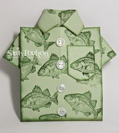 Stampin' Sarah!: By the Tide Origami Shirt Card from Stampin' Up! UK Demonstrator Sarah Poulton