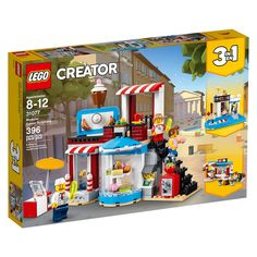 LEGO Creator - Modular Sweet Surprises and thousands more of the very best toys at Fat Brain Toys. Build a modular cake shop, a vacation pool house, or a quaint food corner cafe! The cake shop features a rotating cake stand in. Lego Creator, The Creator, Shop Lego, Buy Lego, Lego Store, Lego Castle, Lego Minecraft, Lego Disney, Lego Ninjago