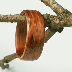 Bentwood Mens Ring Walnut size 125 by tpursell on Etsy, $70.00