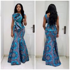 Latest Ankara Long Skirt and Blouse Style 2019 for Lovely Ladies .Latest Ankara Long Skirt and Blouse Style 2019 for Lovely Ladies African Fashion Ankara, Latest African Fashion Dresses, African Dresses For Women, African Print Dresses, African Print Fashion, African Attire, Africa Fashion, Ankara Skirt And Blouse, Ankara Dress Styles