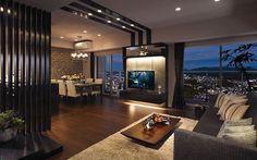 Make Your Ceilings Special - False Ceiling Ideas - Living Room Modern, Living Room Designs, Home Interior Design, Interior Architecture, Living Room Decor Inspiration, Dream Apartment, Elegant Homes, House Rooms, Luxury Living