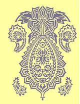 Paisley Pineapple. This, on a throw pillow or wall hanging for the guest room.