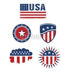Vector: USA star flag design elements vector
