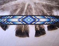 Stunning Fire Native America Bead Bracelet Bead by ParChevalier
