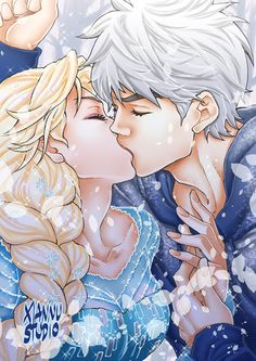 Elsa - Frozen (c) Disney Jack Frost - El origen de los Guardianes / Rise of the Guardians (c) Dreamworks Hay a mucha gente que no le gusta ninguna. Frozen Disney, Elsa Frozen, Frozen Love, Frozen Art, Jack Frost E Elsa, Jack Y Elsa, Jelsa, Deco Disney, Disney Fan Art