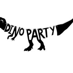 Girlande Dinosaurier Party Box, Anton, Sag Ja, Happy Birthday, Sticker, Birth, Dinosaurs, Kuchen, Essen